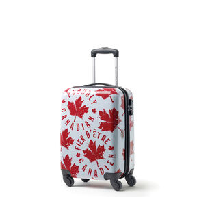 Canadian Tourister Collection Spinner Carry-On in the color Proud Leaf Red/White.
