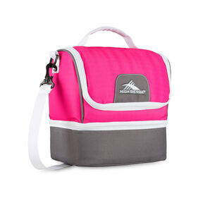 High Sierra Lunch Packs Double-Decker in the color Flamingo/Charcoal/White.