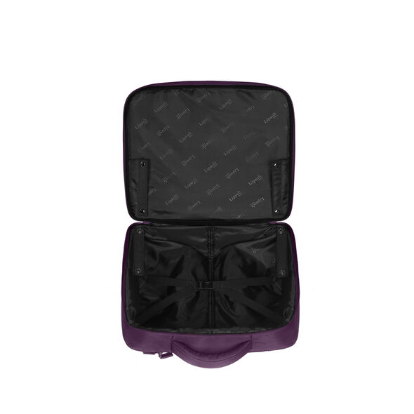 """Lipault Plume Business Rolling Tote 15"""" in the color Purple."""