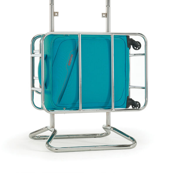 American Tourister Bayview Spinner Carry-On in the color Hyper Blue.