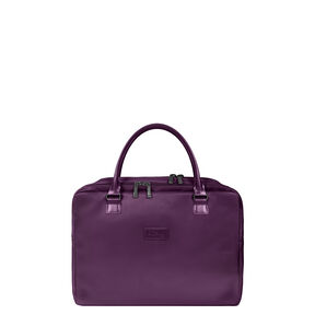 """Lipault Lady Plume Laptop Bailhandle 15.6"""" in the color Purple."""