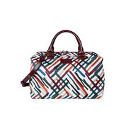 Lipault Draw the Fall Bowling Bag M in the color Chevron/Wine/Green.