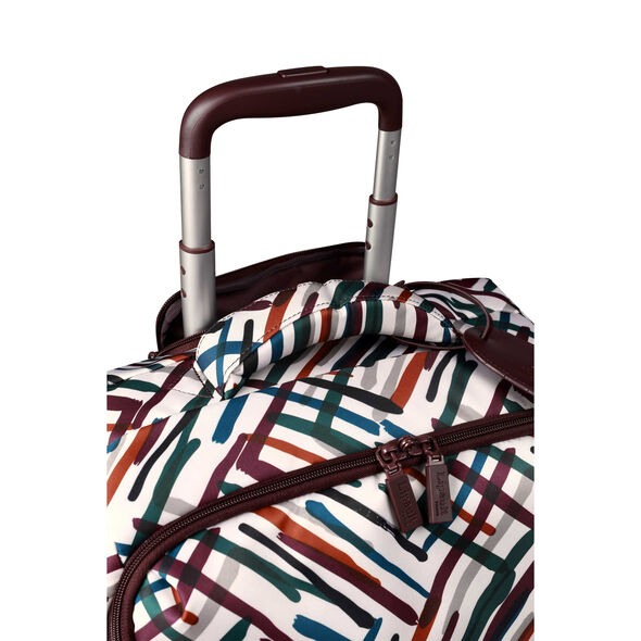 Lipault Draw the Fall Spinner 55/20 2.0 in the color Chevron/Wine/Green.
