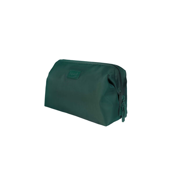 """Lipault Plume Accessories 12"""" Toiletry Kit in the color Forest Green."""