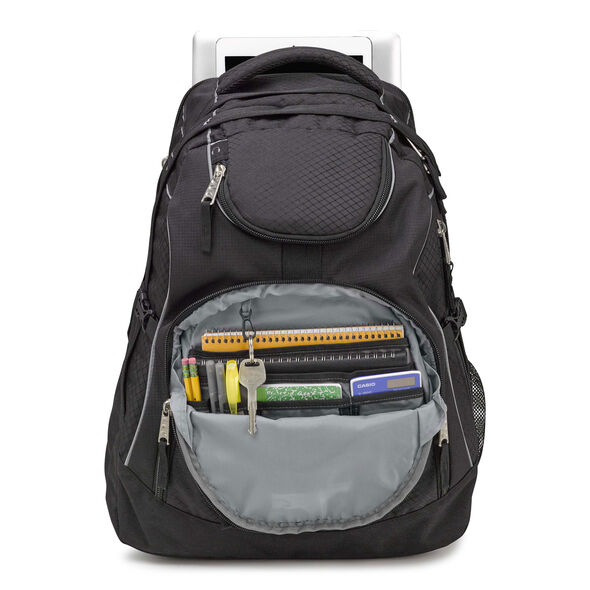 High Sierra Access Backpack in the color Black/Black.