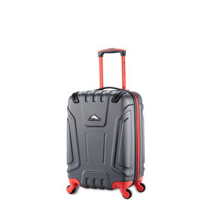High Sierra Tephralite Spinner Carry-On in the color Mercury/Red Line.