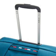 Samsonite Base Boost Spinner Large in the color Petrol Blue Stripes.