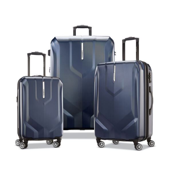 Samsonite Opto PC 2 Spinner 3 Piece Set (CCO, Med, Lrg) in the color Classic Navy.