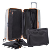 "Samsonite Black Label Lite-Cube DLX Spinner Large (31"") in the color Aluminum."