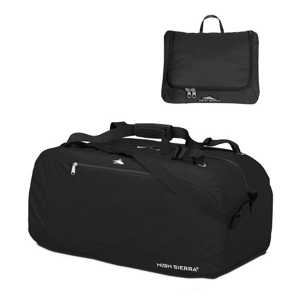 "High Sierra 30"" Pack-N-Go Duffle in the color Black."
