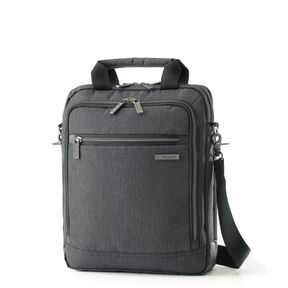 Samsonite Modern Utility Vertical Messenger Bag in the color Charcoal Heather/Charcoal.
