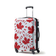 Canadian Tourister Collection Spinner Medium in the color Proud Leaf Red/White.