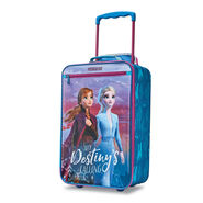 "American Tourister Disney Kids Frozen 2 18"" Softside Upright in the color Frozen 2."