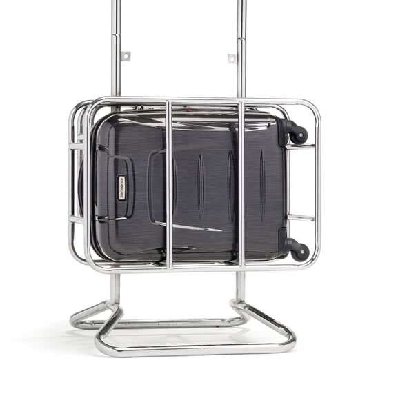 Samsonite Winfield 3 Fashion Spinner Carry-On Widebody in the color Charcoal Brushed.
