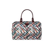 Lipault Draw the Fall Weekend Bag M in the color Chevron/Wine/Green.