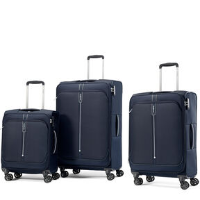 Samsonite Popsoda Spinner 3 Piece Set (CO/Med/Lrg) in the color Dark Blue.