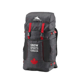 High Sierra Snow Sports Canada Athlete Backpack in the color Topical Map.