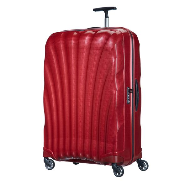 """Samsonite Cosmolite Spinner Large (28"""") in the color Red."""