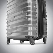 Samsonite Ziplite 4 Spinner Large in the color Silver Oxide.