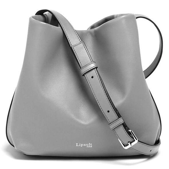 Lipault By The Seine Bucket Bag in the color Magnetic Grey.