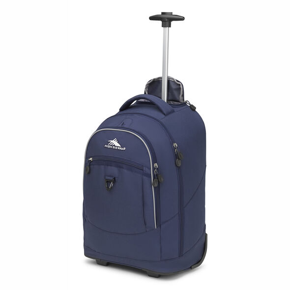 High Sierra Chaser Wheeled Backpack in the color True Navy.