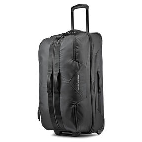 """High Sierra Dells Canyon 28"""" Drop-Bottom Wheeled Duffle in the color Black/Black."""
