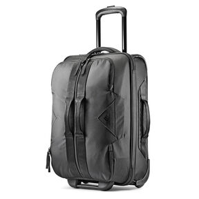 "High Sierra Dells Canyon 21.5"" Wheeled Duffle in the color Black/Black."
