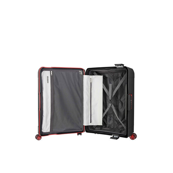 """American Tourister Tribus 25"""" Spinner in the color Dark Grey."""