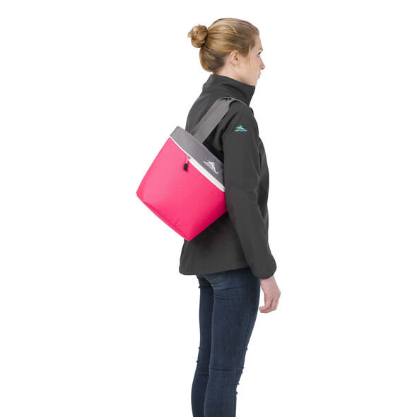 High Sierra Lunch Tote in the color Flamingo/Charcoal/White.