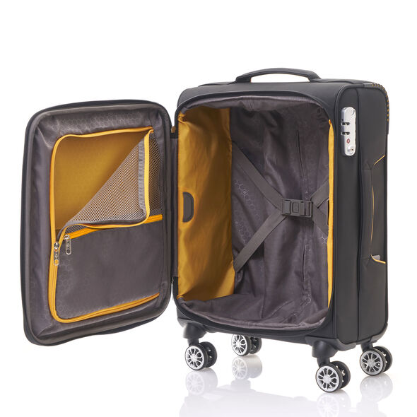 Samsonite Crosslite Spinner Carry-On in the color Black.