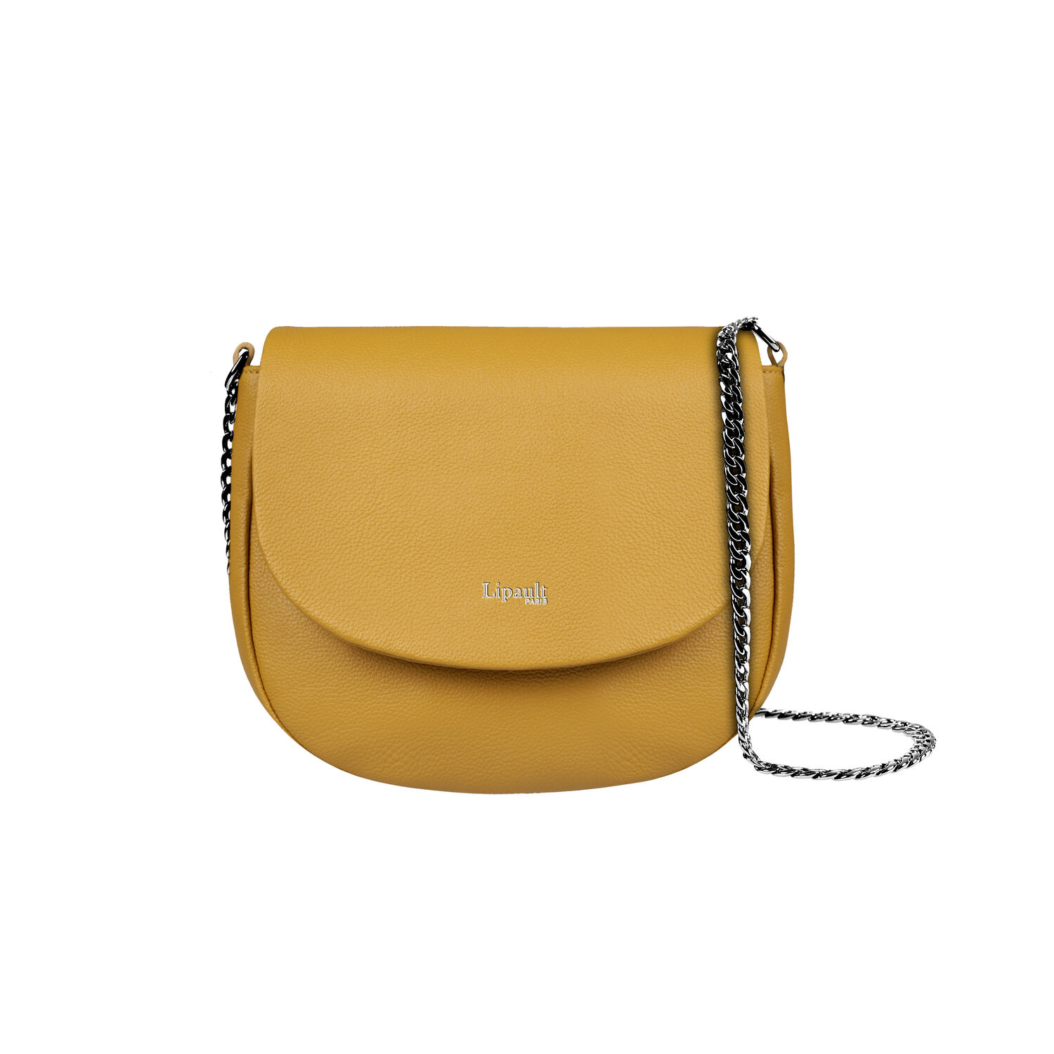 6d4cc733f4a3 Lipault Plume Elegance Saddle Bag in the color Mustard Leather.