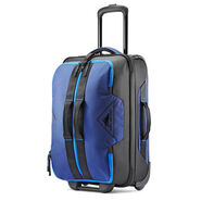 "High Sierra Dells Canyon 21.5"" Wheeled Duffle in the color True Navy/Black/Sports Blue."