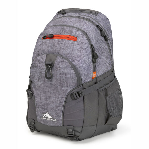 High Sierra Loop Backpack in the color Woolly Weave/Mercury/Crimson.