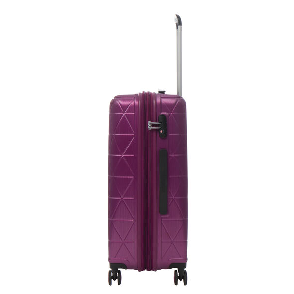 American Tourister Edge Spinner Medium Exp in the color Metallic Violet. new 8950a2dc62683