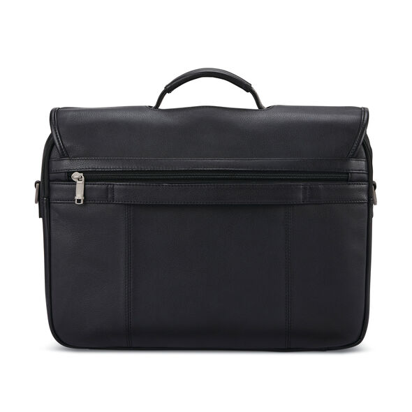 Samsonite Classic Leather Flapover in the color Black.