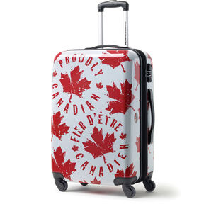 Canadian Tourister Collection Spinner Large in the color Proud Leaf Red/White.
