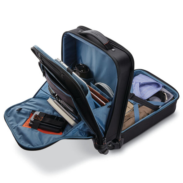 Samsonite Pro Vertical Spinner Mobile Office in the color Black.