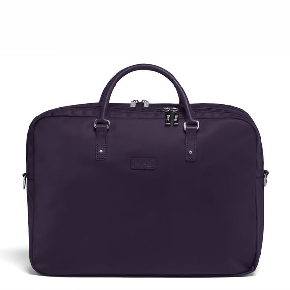 """Lipault Lady Plume FL Laptop Bailhandle (15.6"""") in the color Purple."""
