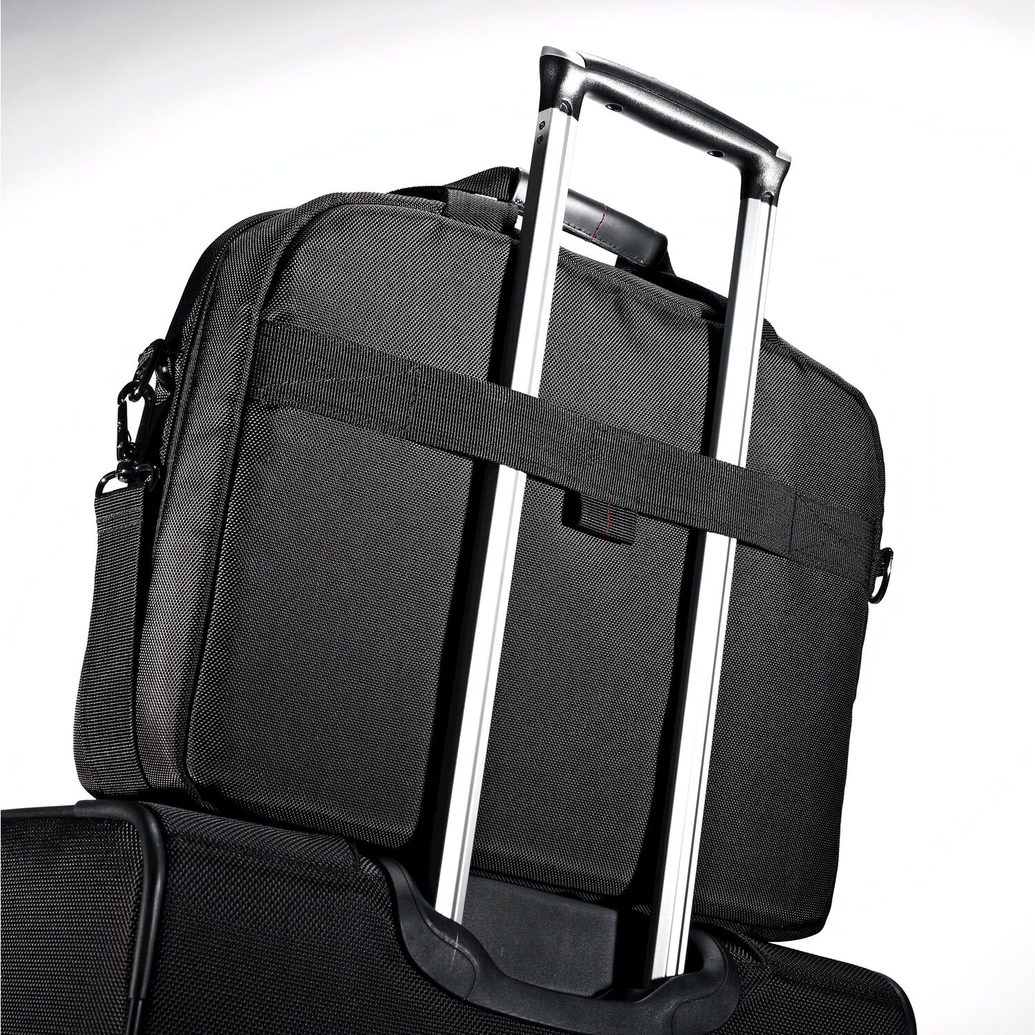 Samsonite Xenon 2 Two Gusset Toploader In The Color Black