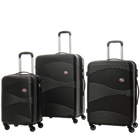 Canadian Tourister Coastal Spinner 3 Piece Set (CO/Med/Lrg) in the color Black.