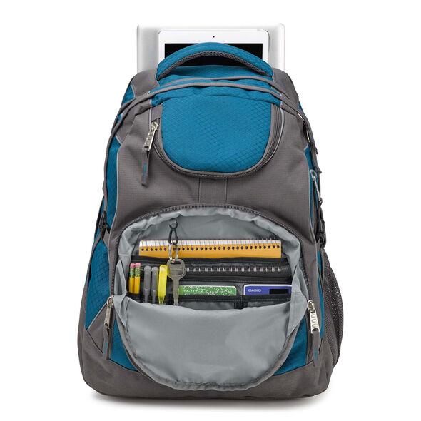 High Sierra Access Backpack in the color Lagoon/ Slate.