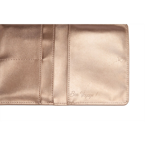 Lipault Miss Plume Passport Cover in the color Pink Gold.