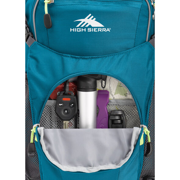 High Sierra HydraHike 16L in the color Lagoon/Slate/Zest.