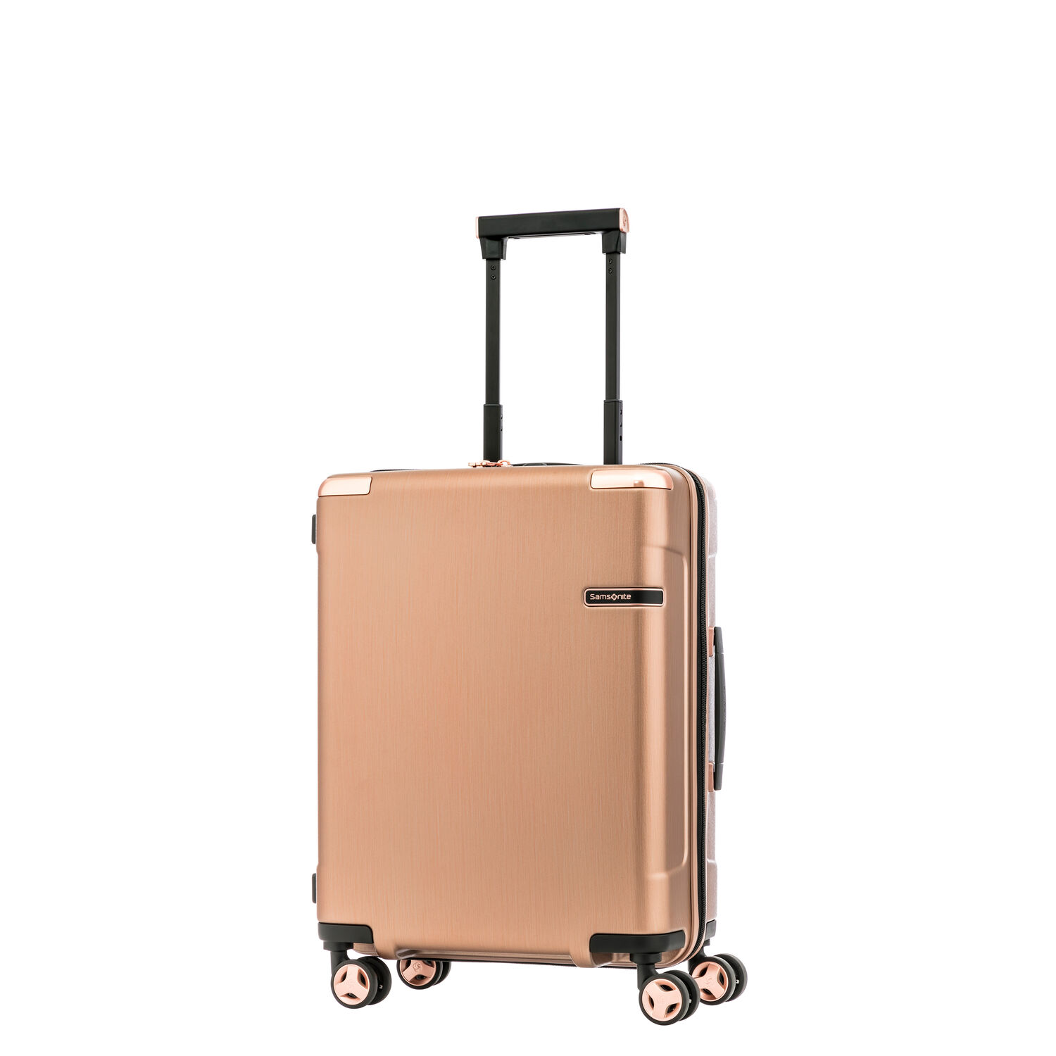Samsonite Evoa Spinner Carry-On in the color Rose Gold.