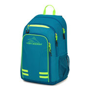 High Sierra Blaise Backpack in the color Sea/Lagoon/Zest.