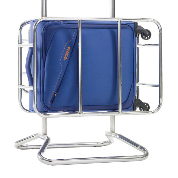 American Tourister Bayview Spinner Carry-On in the color Imperial Blue.