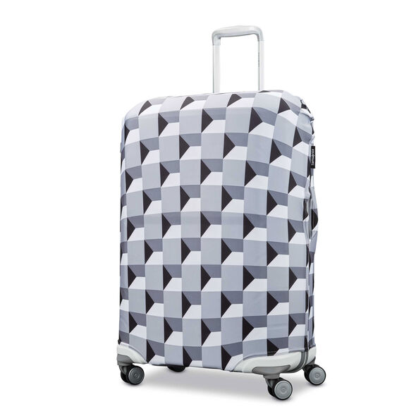 Samsonite Printed Luggage Cover - M in the color Infinity Grey.
