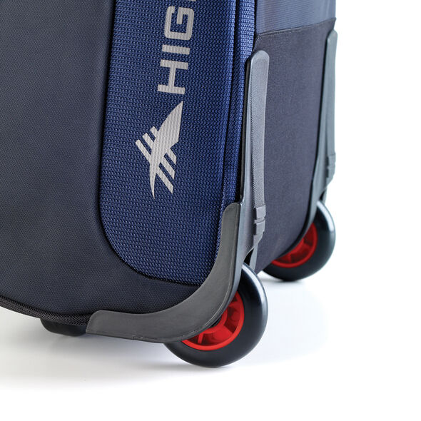 High Sierra AT6 DLX Wheeled Duffle with Removable Daypack in the color True Navy/Red Line.