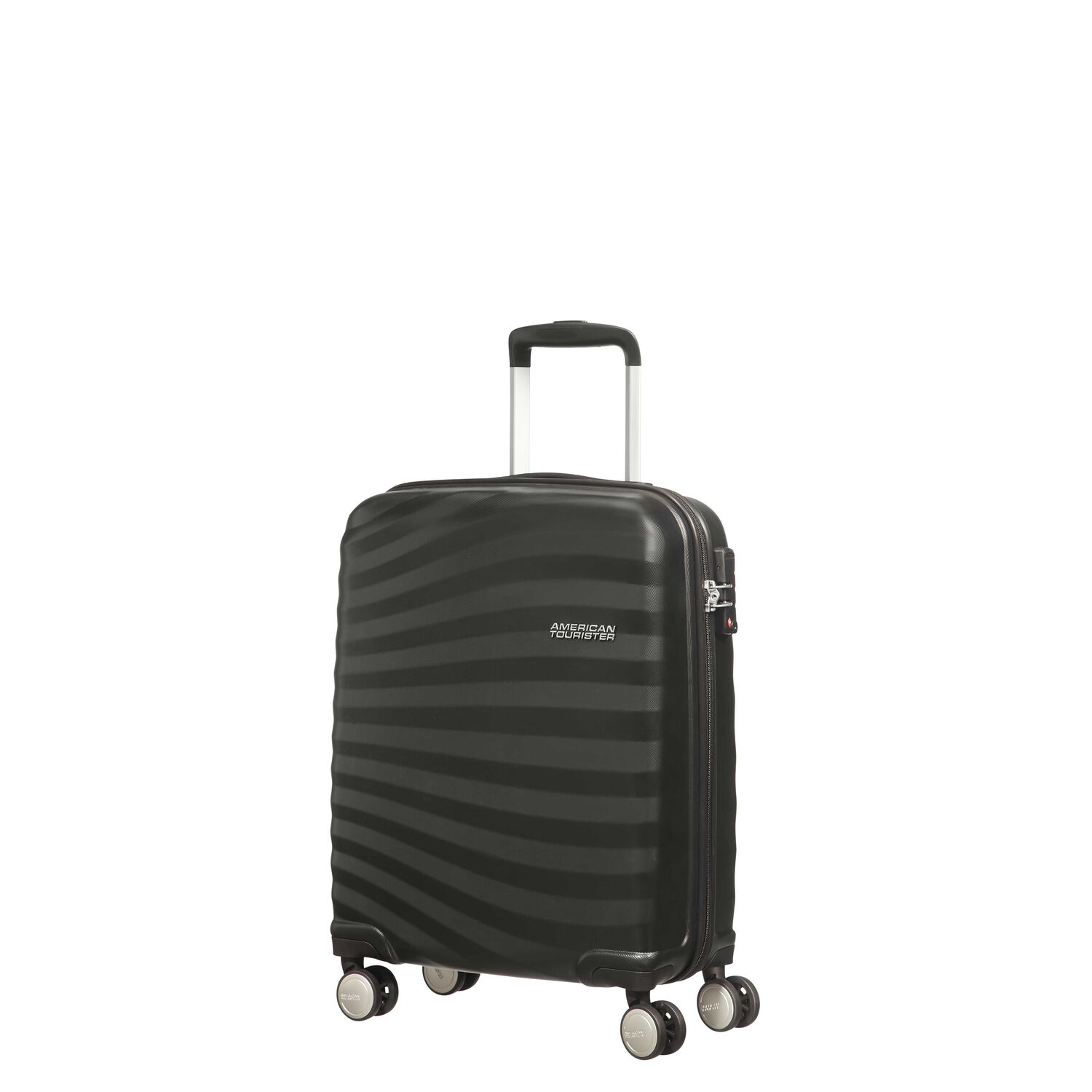31e3f9a92 American Tourister Oceanfront Spinner Carry-On in the color Onyx Black.