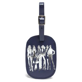 Lipault Izak Zenou Luggage Tag in the color Pose/Night Blue.